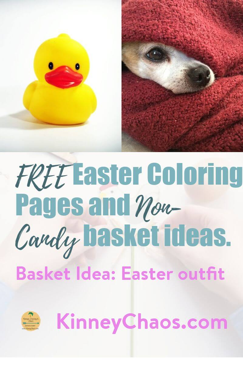 Free Easter Coloring Pages and Non-Candy Basket ideas