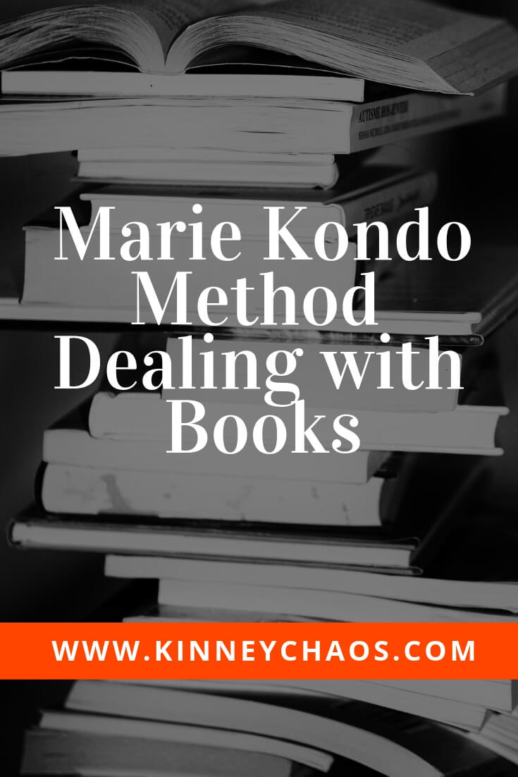 Pin for easy reference later about the Marie Kondo Method Dealing with Books KonMari Cleaning method #mariekondo #cleaning #konmari