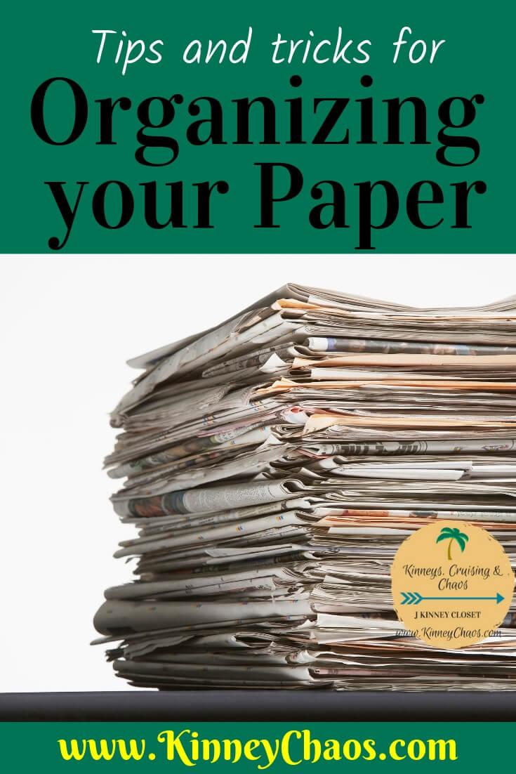 Marie Kondo Organizing Paper