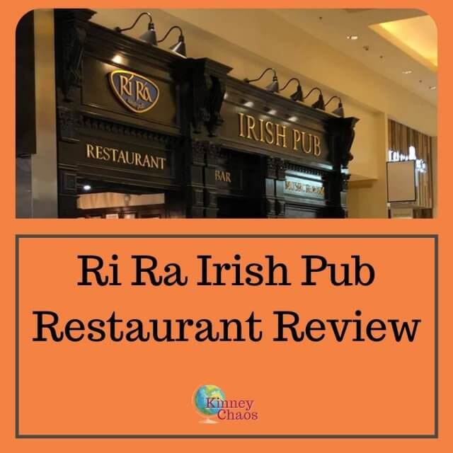 When meeting up with friends you want a restaurant that is enjoyable to sit in and the wait staff is friendly. That is exactly what we got at the Ri Ra Irish Pub when visiting in August of 2020.